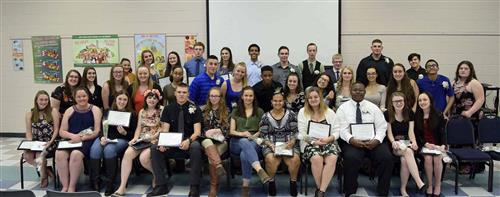 Forty-two Career and Technical Education students were inducted into the National Vocational Technical Honor Society