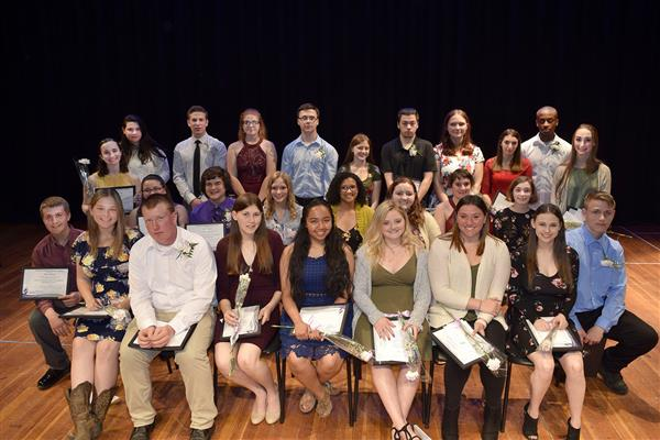 Group of Honor Society Inductees
