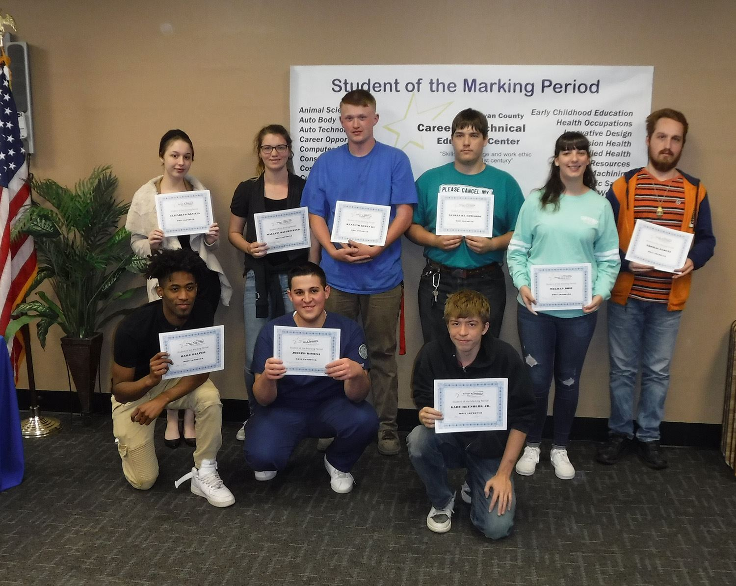 Group of Students awarded