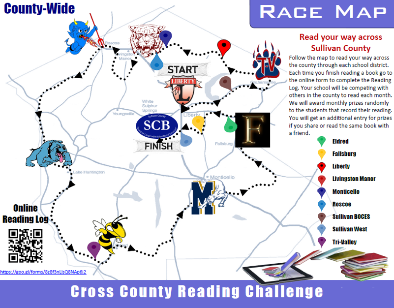 Cross County Reading Challenge Map