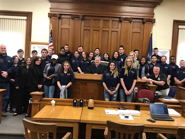 CTE: Public Safety Program Visits Sullivan County Court House and Sheriff's Office